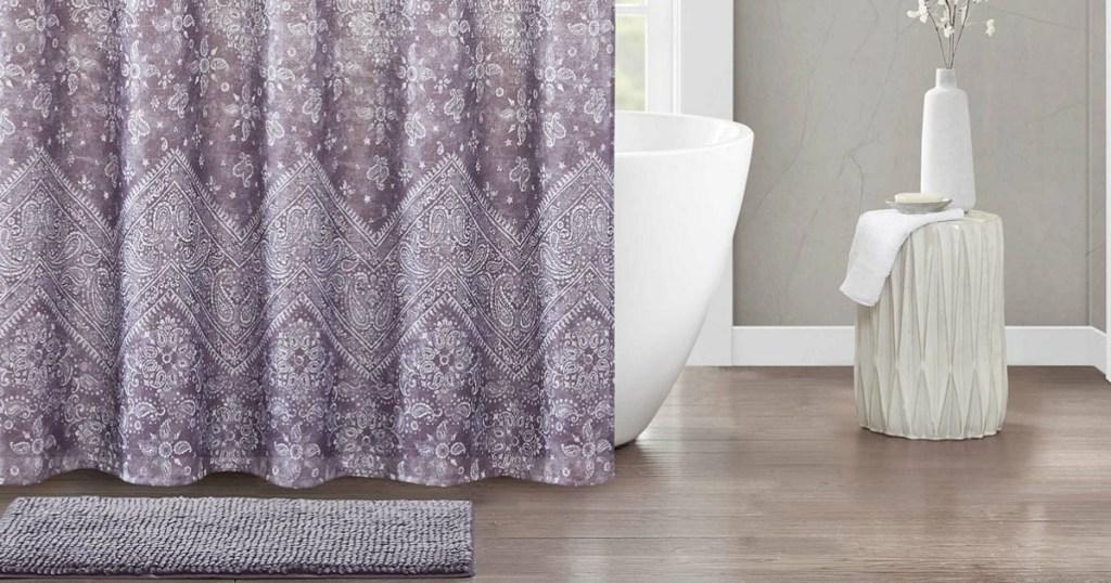 Urban Habitat Shower Curtain Bath Rug