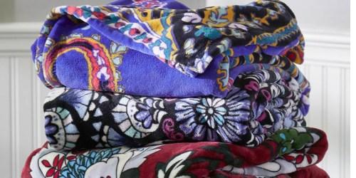 50% Off Vera Bradley Blankets + FREE Shipping