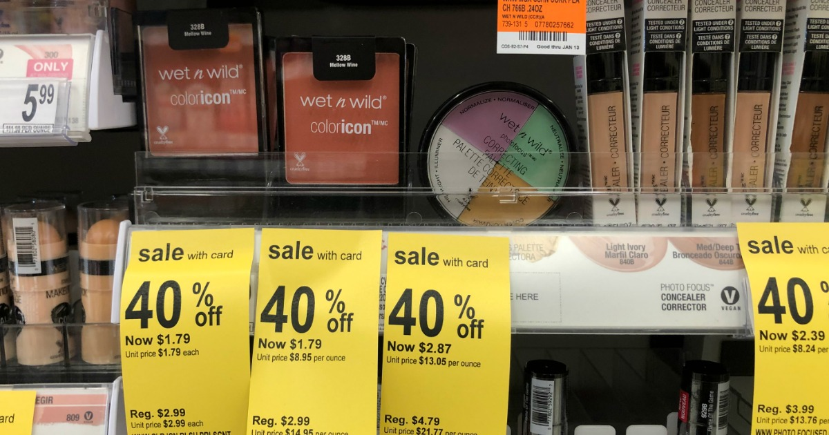 image about Wet and Wild Printable Coupons named Above $2 Significance of Clean Moist n Wild Discount codes \u003d Absolutely free Eyeshadow at