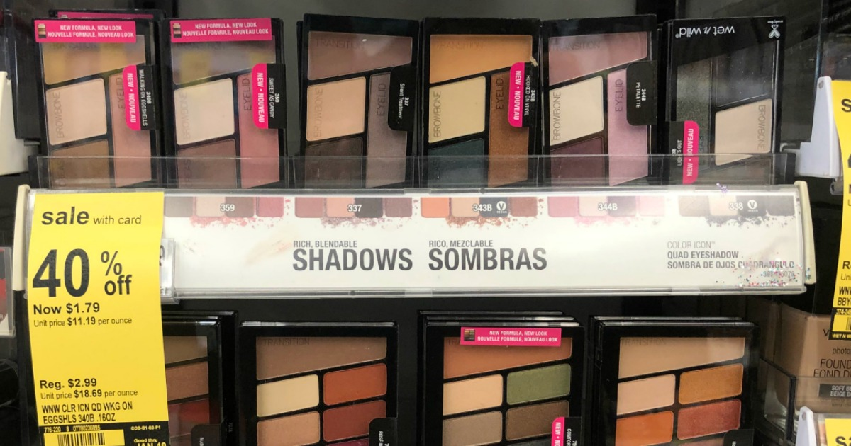 graphic relating to Wet N Wild Printable Coupon known as Higher than $2 Importance of Fresh new Soaked n Wild Coupon codes \u003d Free of charge Eyeshadow at
