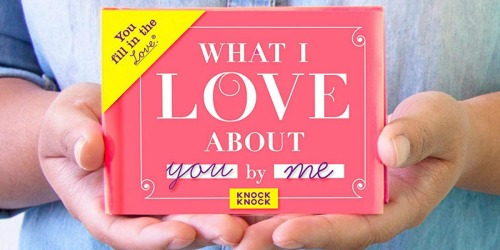 What I Love About You Fill In The Blank Book as Low as $7 Shipped & More