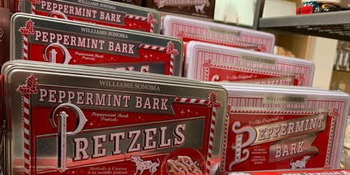 The Original Williams Sonoma Peppermint Bark 1-Pound Tin Just $9.99 (Regularly $30) | Great Valentine's Day Gift