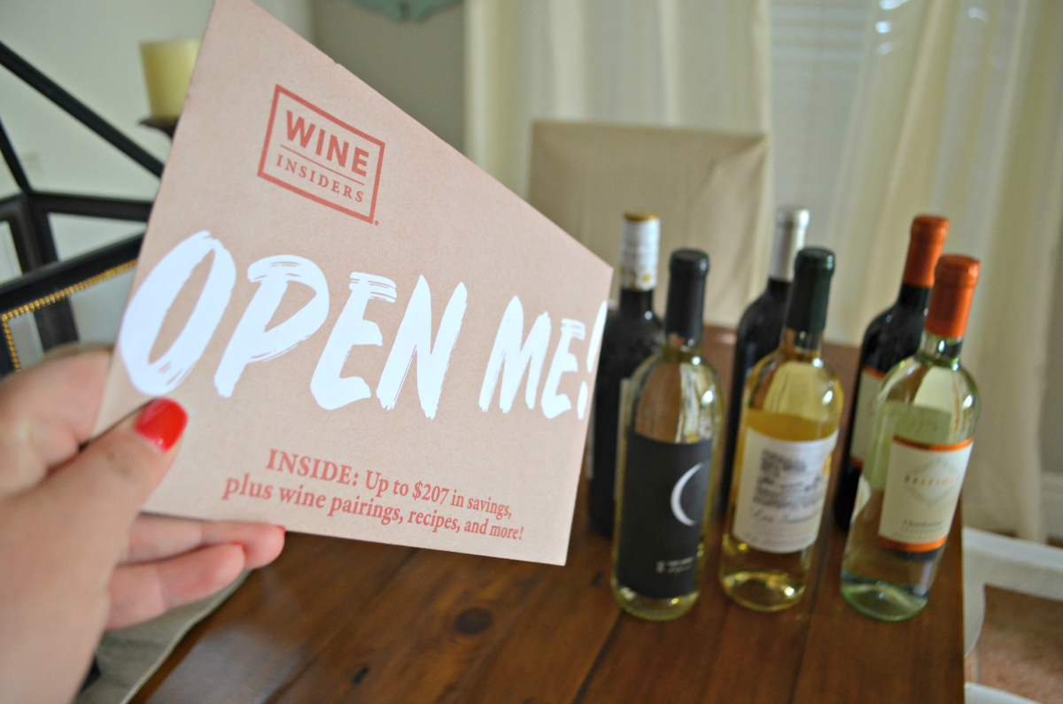 Wine Insiders extra savings packet that comes with the wine