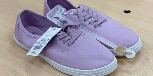 Women's Lace Up Canvas Sneakers Possibly Only $5 at Target
