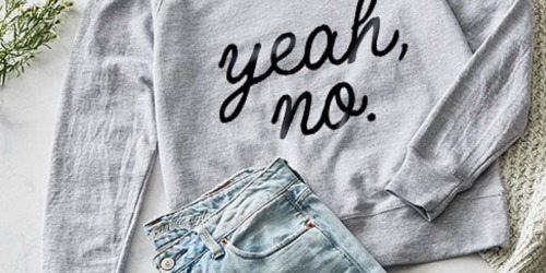Women's Graphic Slouchy Pullovers Only $19.79 (Regularly $38) at Zulily