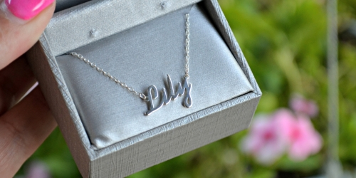 Zales Personalized Sterling Silver Necklace Just $19.99 Shipped (Regularly $89) + More