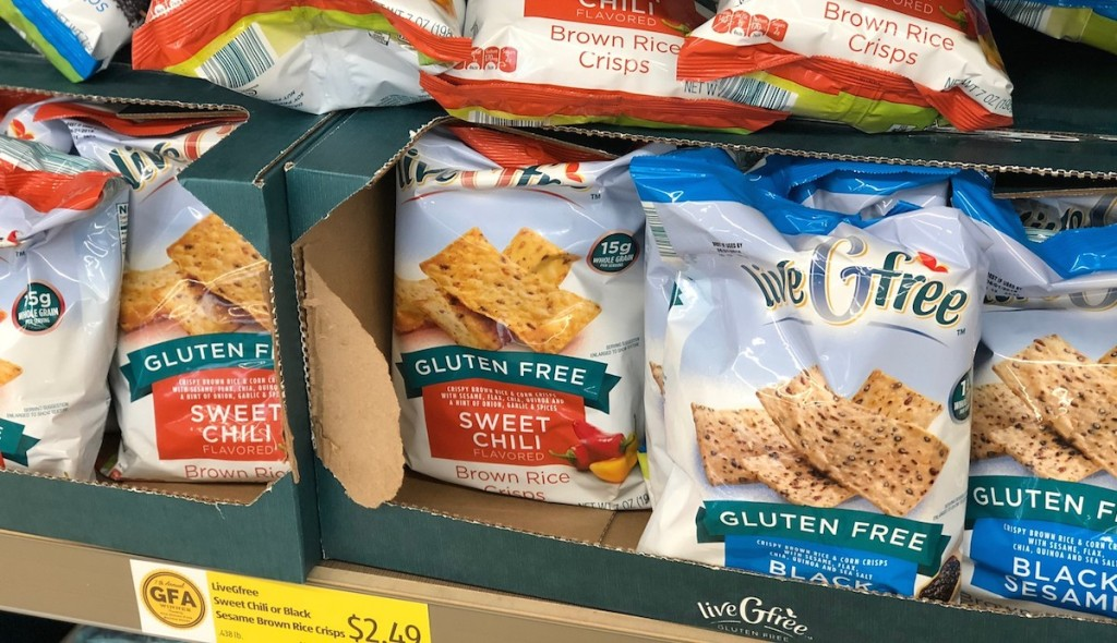 bag of gluten free chips and crisps