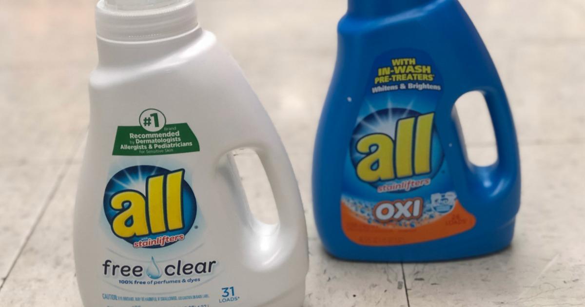 all laundry detergent bottles