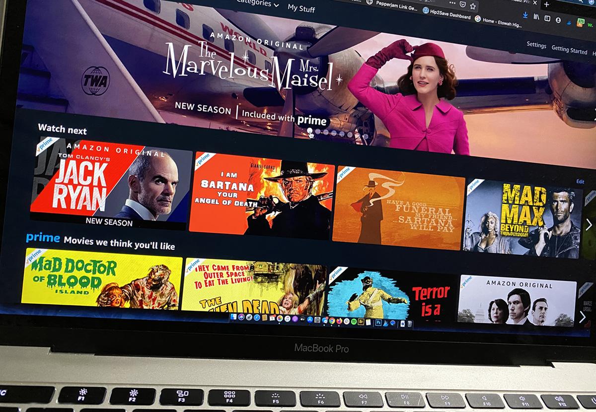 amazon prime tv on macbook computer screen