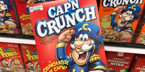 New $1/2 Quaker Cereals Coupon = Cap'n Crunch Cereal Just $1.49 at Walgreens | Starting 10/27
