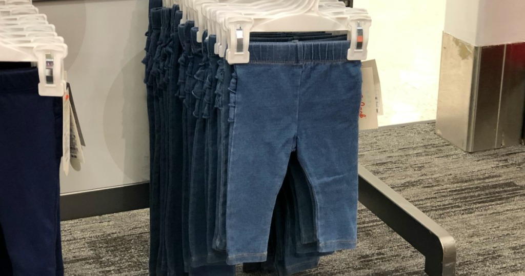 baby jeans on hanger at Target