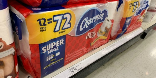 THREE Large Packs of Charmin Super Mega Rolls as Low as $33 After Target Gift Card (Just $11 Each)