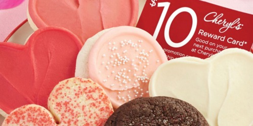 Cheryl's 6 Cookie Sampler + $10 Reward Card Only $9.99 Delivered (Order Now for Valentine's Day)