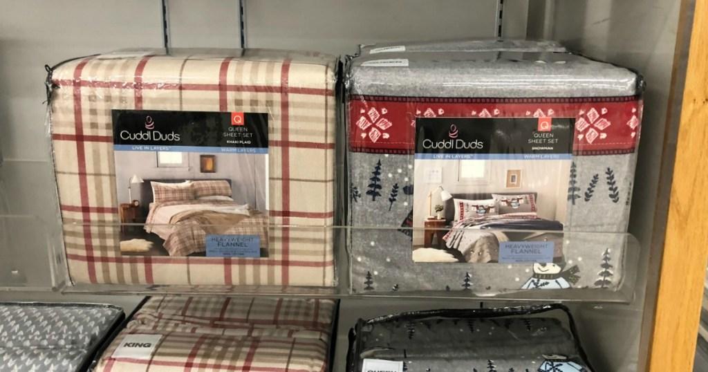cuddl duds flanel sheets di rak di toko