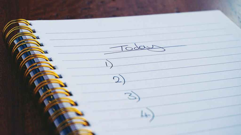 daily to-do list