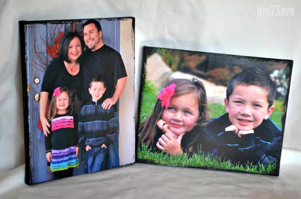 diy photo canvas covered with mod podge