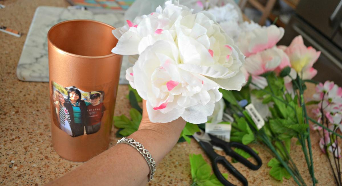 dollar tree flower arrangement
