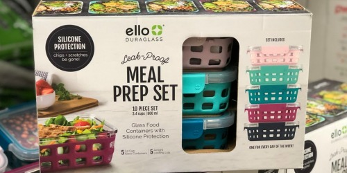 Sam's Club: Ello DuraGlass 10-Piece Meal Prep Set Only $24.98 Shipped