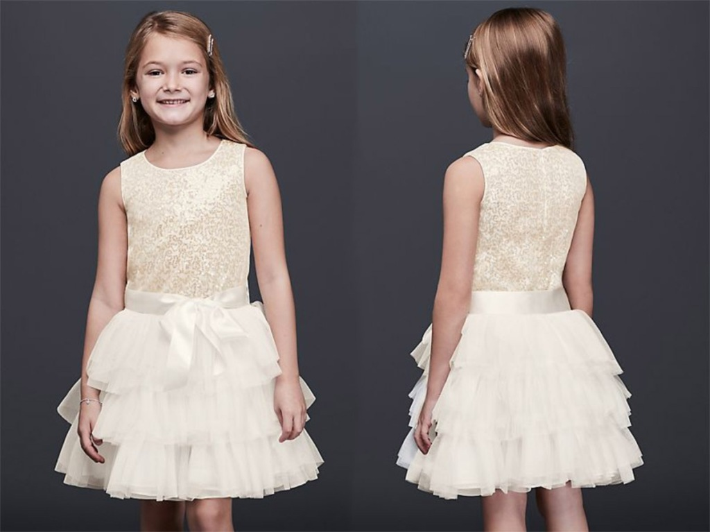 8562906dcdea Bonnie Jean Tiered Tulle Flower Girl Dress with Sequin Bodice $39.99  (regularly $59.95) Use promo code FREESHIPOMG Final cost only $39.99 shipped !