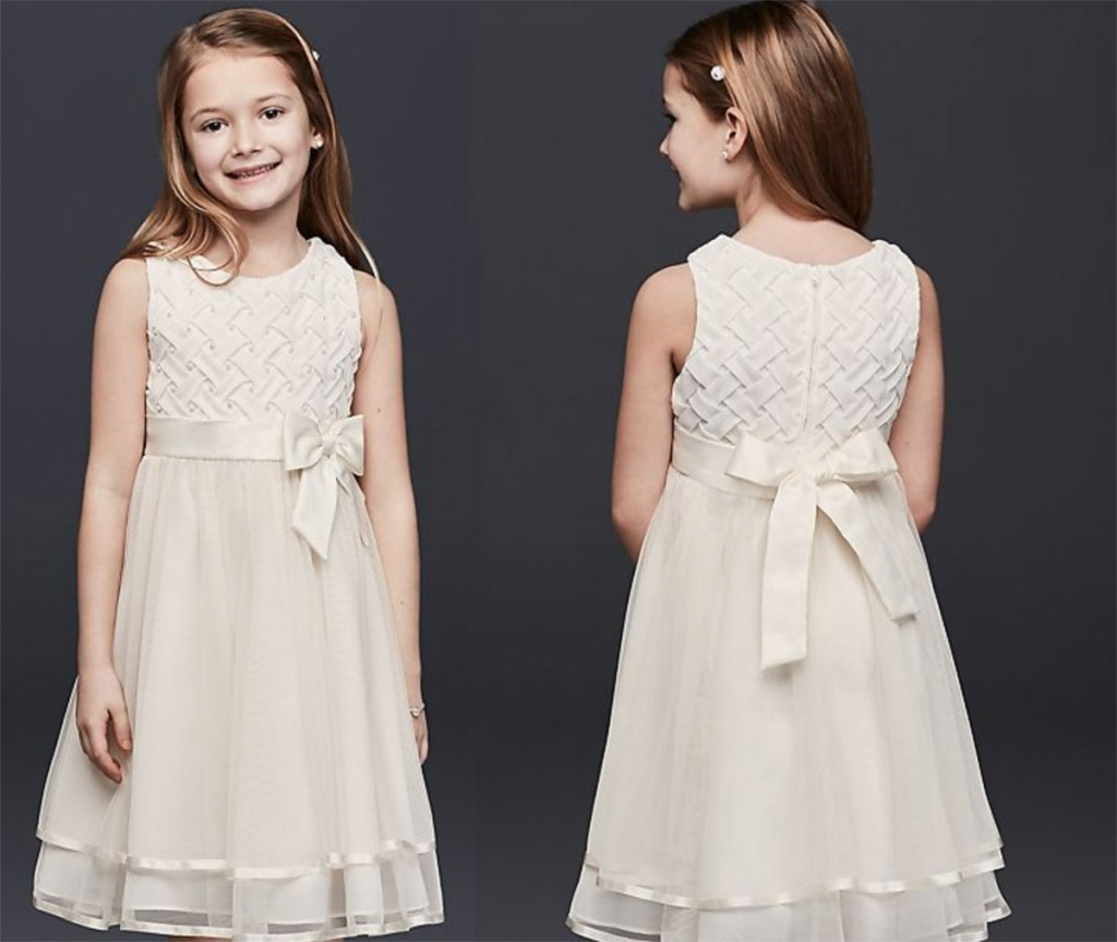 30000f2ae5dc Lattice Bodice Dress with Tiered Tulle Skirt $39.99 (regularly $69.95) Use  promo code FREESHIPOMG Final cost only $29.99 shipped!