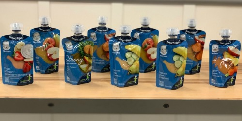$4.25 Worth of New Gerber Coupons = Baby Food Pouches Just 81¢ Each at Target