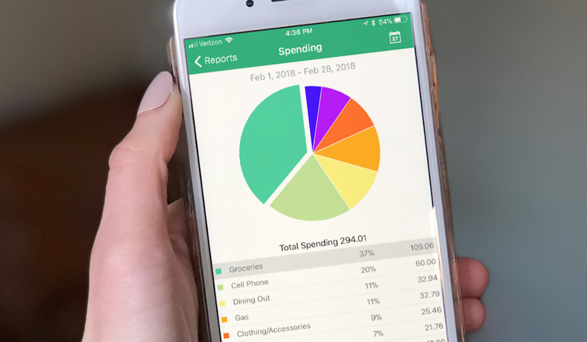 budgeting apps goodbudget screen cell phone