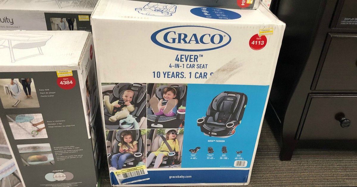 box of graco 4ever carseat