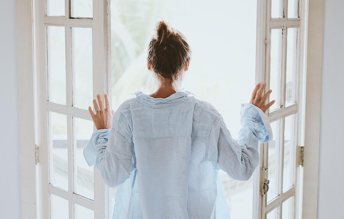 open the windows sunshine in morning light