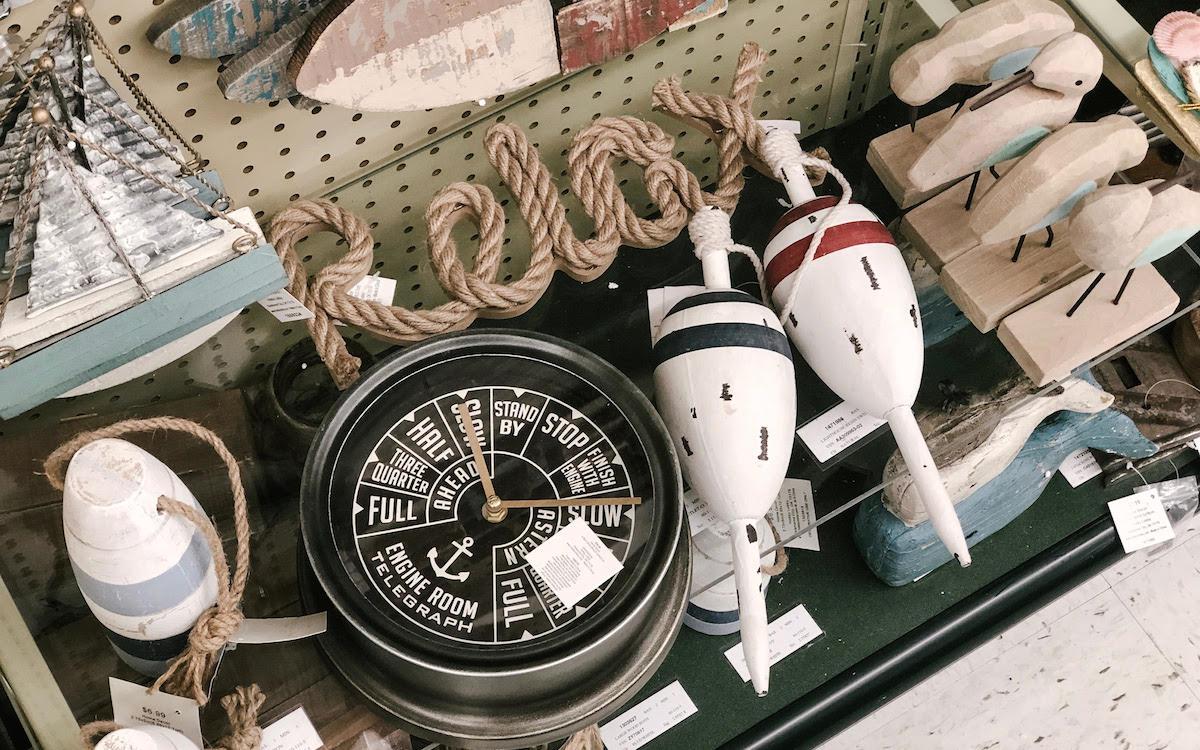 nautical items at hobby lobby clock boating rope