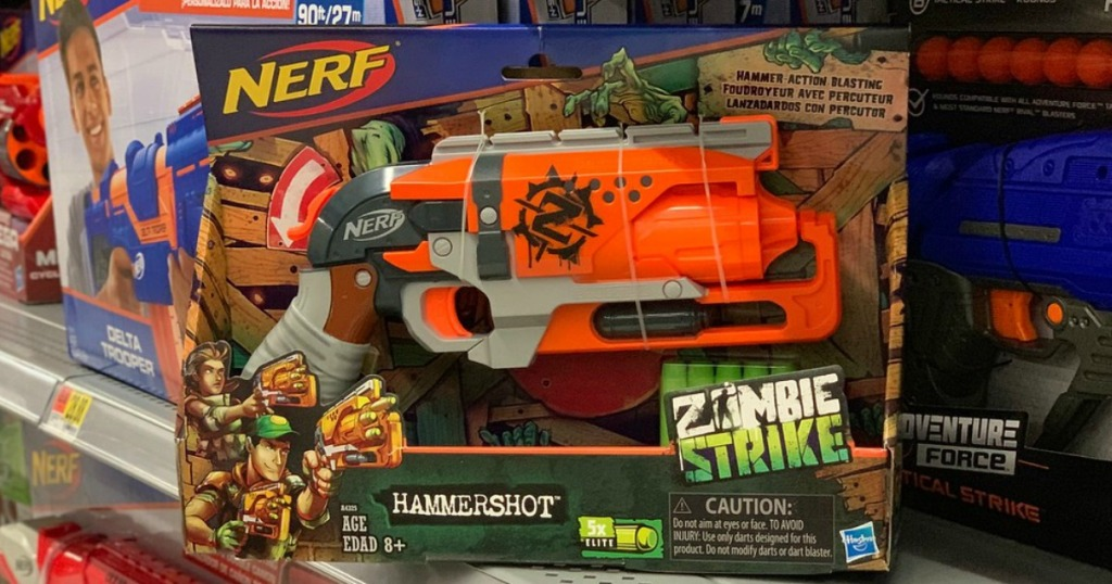 nerf zombie strike hammershot in store