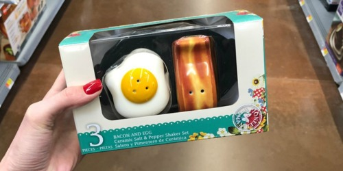 The Pioneer Woman Bacon and Egg 3-Piece Salt & Pepper Shaker Set Just $4.58 at Walmart