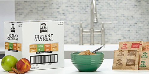 Quaker Instant Oatmeal 48-Count Packs as Low as $8.15 Shipped on Amazon (Just 17¢ Per Packet)