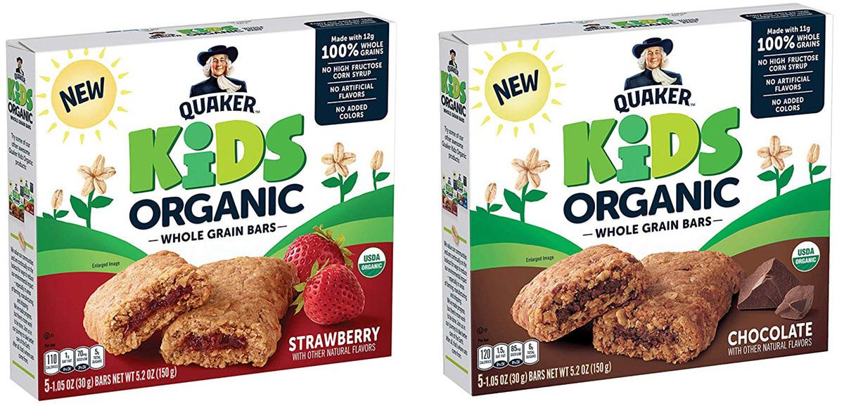 kids organic quaker bars