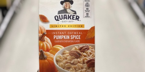 Amazon: Quaker Seasonal Sampler Only $11.99 Shipped (Includes 6 FULL-SIZE Products)