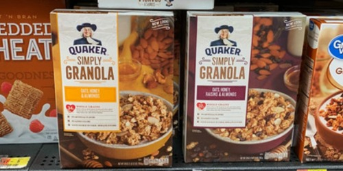 Amazon: LARGE Quaker Simply Granola Cereal 28oz Boxes Just $3.52 Each Shipped + More