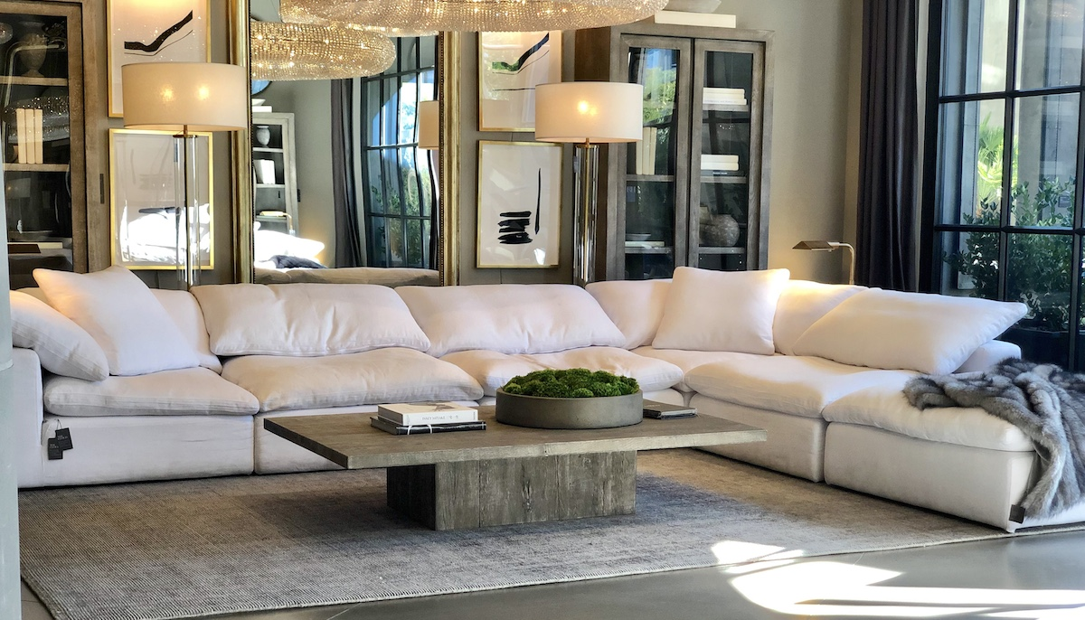 Restoration Hardware copycat items – restoration hardware white sectional couch cloud