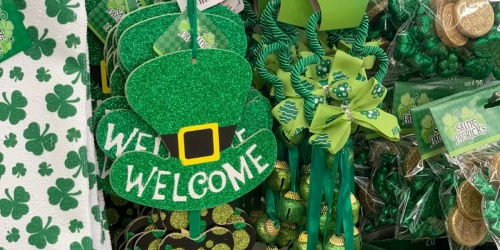 St. Patrick's Day Decor Only $1 Each at Dollar Tree (Shamrocks, Bowties, Hats & More)