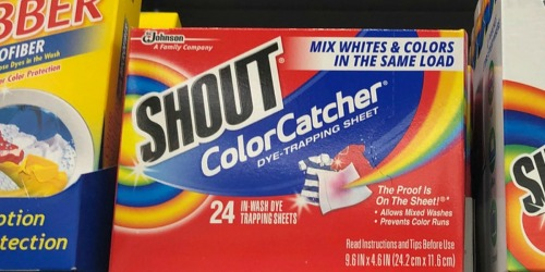 TWO Shout Color Catcher 24-Count Boxes Only $3.78 After Target Gift Card & More