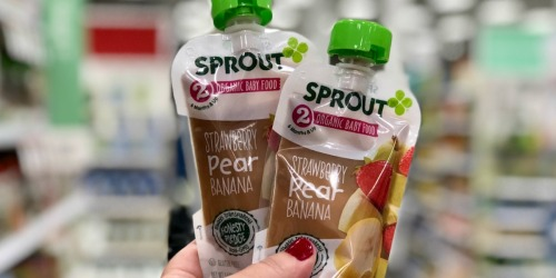 Sprout Organic Baby Food Pouches 12-Packs as Low as $10.79 Shipped (Just 90¢ Each)