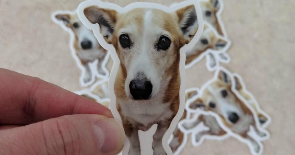 sticker of dog
