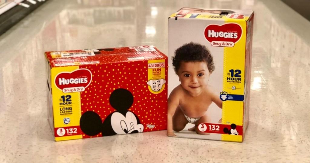 huggies super packs on floor at target