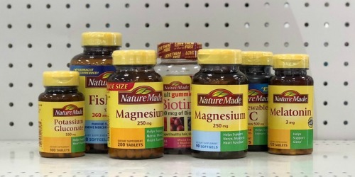Nature Made Vitamins from $1.39 Each at Walgreens | Save on Super-B Complex, Vitamin A, Magnesium & More