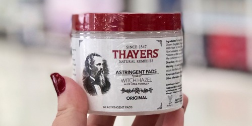 Thayers Witch Hazel Astringent 60-Count Pads Only $4.32 Each After Target Gift Card & More