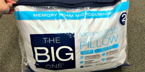 Kohl's Cardholders: The Big One Memory Foam Pillows 2-Pack Only $11.87 Shipped (Regularly $70)