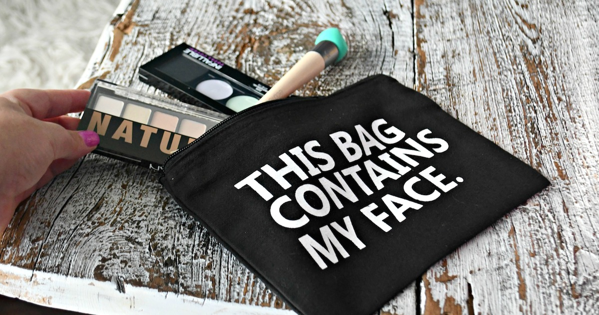 this bag contains my face makeup cosmetic bag