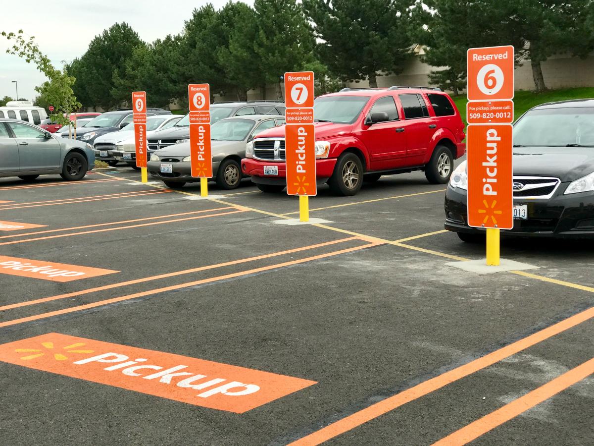 walmart grocery pickup parking spots