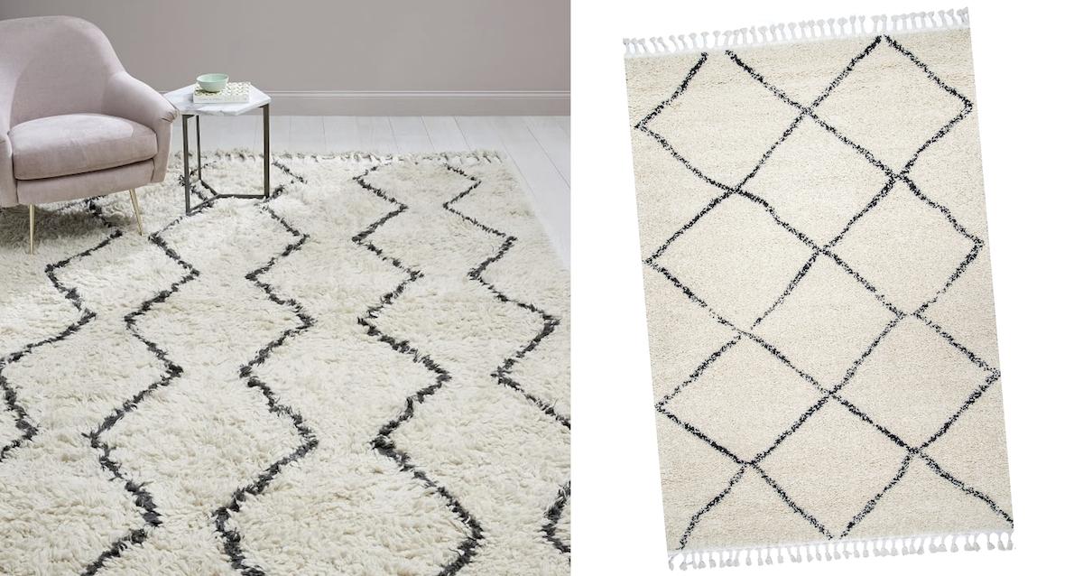 west elm copycat for less money – west elm Moroccan rugs comparisons side by side