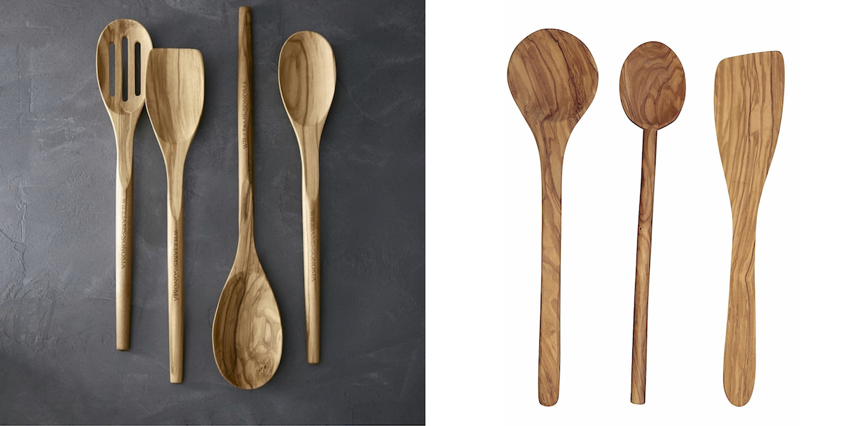 williams sonoma copycat budget – olivewood cooking spoons side by side comparison