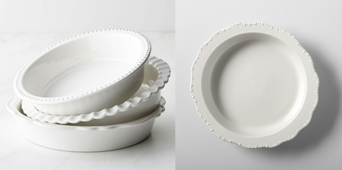 williams sonoma copycat budget stoneware pie pans comparisons side by side