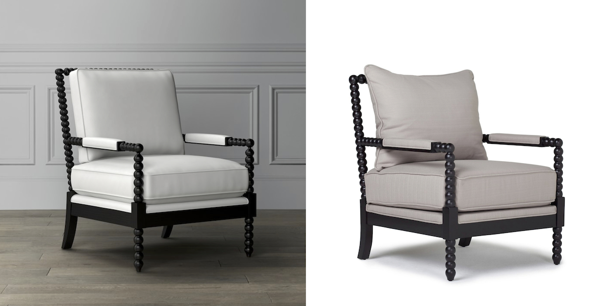 williams sonoma copycat budget – spindle chair furniture comparisons side by side